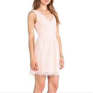 Dolce vita light pink fit and flare lace dress xs